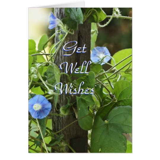 Blue Morning Glories- customise any occasion Card