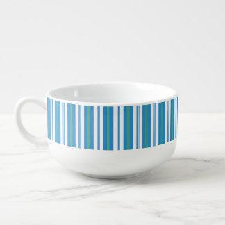 Blue Morning Glory Deckchair Stripe Soup Bowl