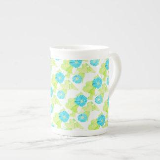 Blue Morning Glory Garden Tea Cup