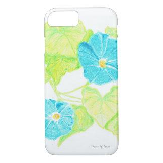 Blue Morning Glory iPhone 7 Case
