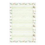 Blue Morning Glory Lined Stationery