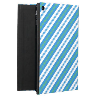 Blue Morning Glory Striped Powis iPad Case