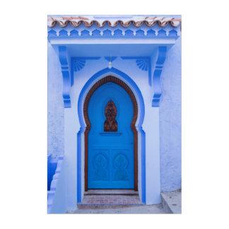 Blue Moroccan Door Acrylic Wall Art