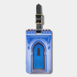 Blue Moroccan Door Luggage Tag