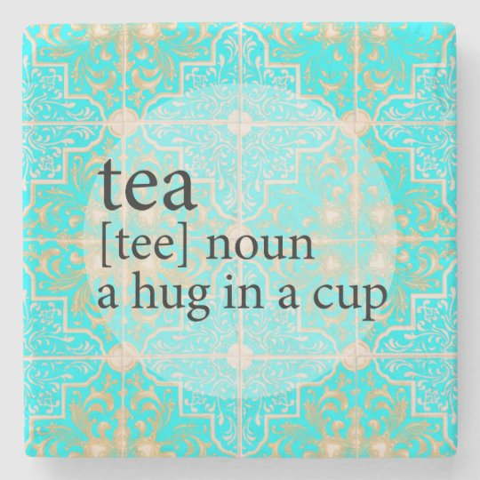 Blue Moroccan Tile Tea Time Hug in a