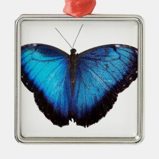Blue Morpho Butterflie Christmas Ornament