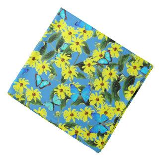 Blue Morpho Butterflies Coneflower Flowers Bandana
