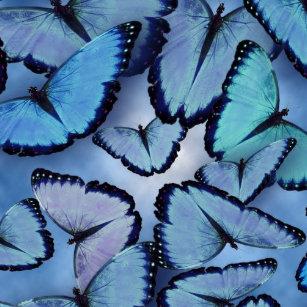 2ead4a02695fd Blue Butterfly Stickers & Labels | Zazzle UK