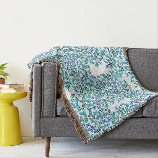 Blue Morpho Butterflies Wildlife Throw Blanket
