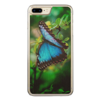 Blue Morpho Butterfly Carved iPhone 8 Plus/7 Plus Case