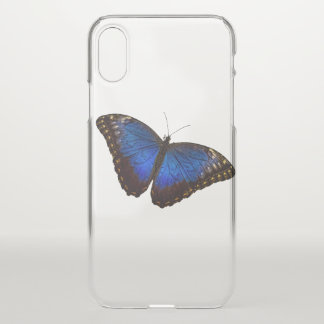 Blue Morpho Butterfly iPhone X Case