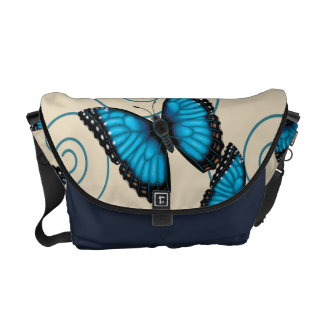 Blue Morpho Butterfly Messenger Bag