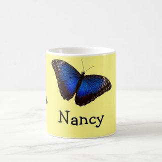 Blue Morpho Butterfly personalized Basic White Mug