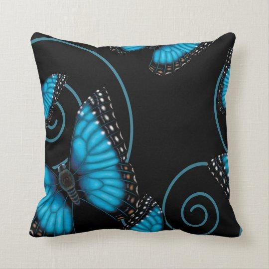 Blue Morpho Butterfly Reversible Cushion
