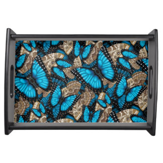 Blue Morpho Butterfly Serving Tray