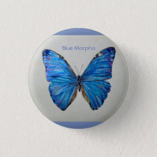 Blue Morpho Butterfly Small Pin/ Button