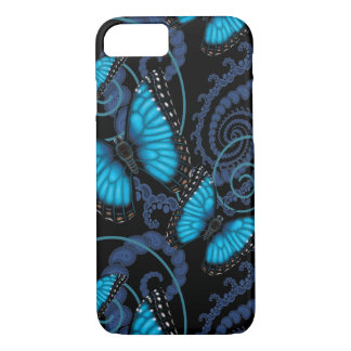 Blue Morpho Butterfly Swirl iPhone 8/7 Case