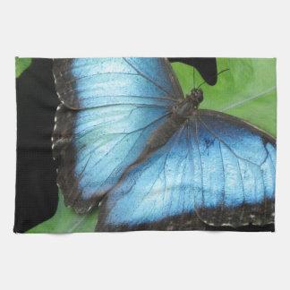 Blue Morpho Butterfly Tea Towel