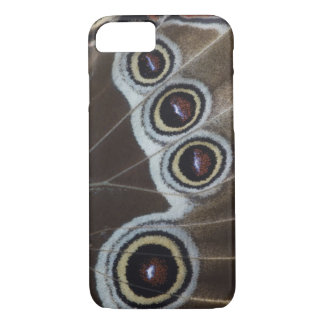 Blue Morpho, Morpho menelaus, adult newly iPhone 8/7 Case