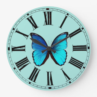 Blue Morpho Wall Clock