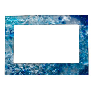 Blue Mosaic Abstract Magnetic Frame