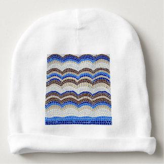 Blue Mosaic Baby Cotton Beanie Baby Beanie