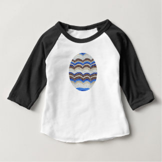 Blue Mosaic Baby Raglan T-Shirt