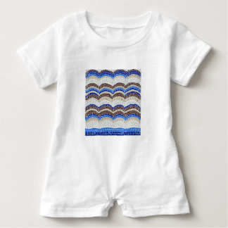 Blue Mosaic Baby Romper Baby Bodysuit