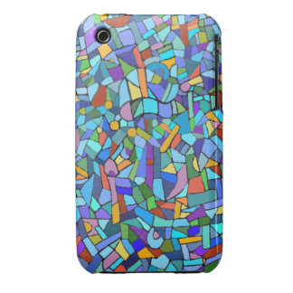 Blue Mosaic Decorative Pattern iPhone 3 Case-Mate Cases