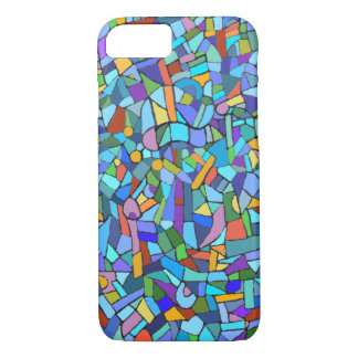 Blue Mosaic Decorative Pattern iPhone 8/7 Case