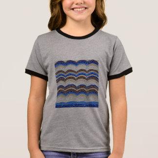 Blue Mosaic Girls' Ringer T-Shirt