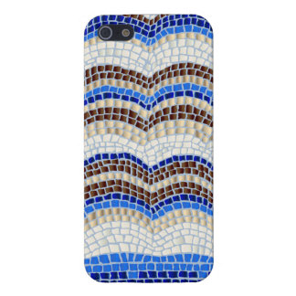 Blue Mosaic Glossy iPhone 5/5s/SE Case iPhone 5 Covers