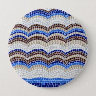 Blue Mosaic Huge Round Button