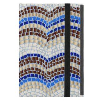 Blue Mosaic iPad Mini Case with No Kickstand