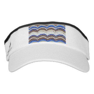 Blue Mosaic Knit Visor