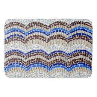 Blue Mosaic Large Bath Mat