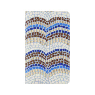 Blue Mosaic Large Notebook