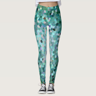 Blue Mosaic leggings