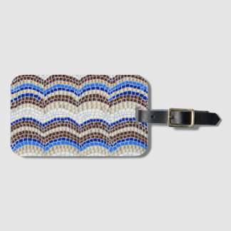 Blue Mosaic Luggage Tag