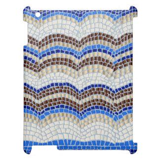 Blue Mosaic Matte iPad Case