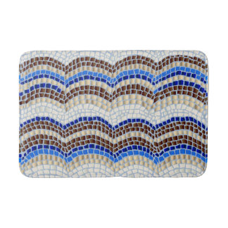 Blue Mosaic Medium Bath Mat