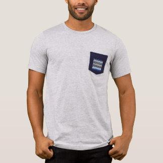 Blue Mosaic Men's Pocket T-Shirt