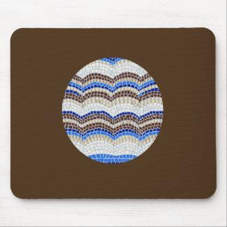 Blue Mosaic Mousepad