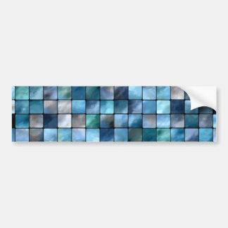 Blue Mosaic Of Tiles Bumper Sticker