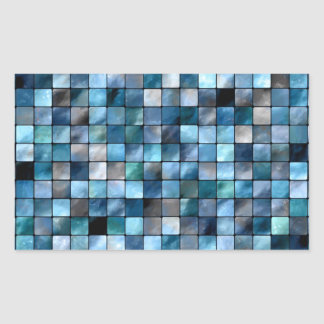 Blue Mosaic Of Tiles Stickers