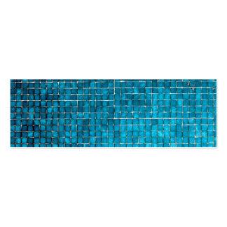 Blue mosaic pattern business card