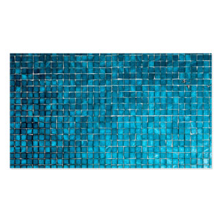 Blue mosaic pattern business cards