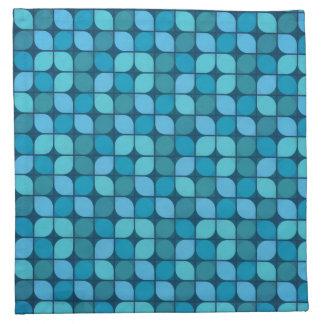 Blue mosaic pattern cloth napkin