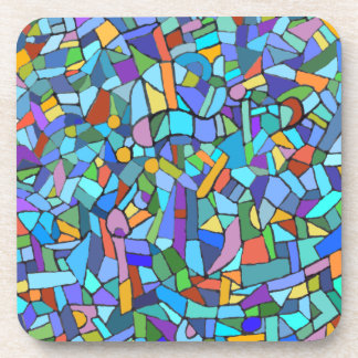 Blue Mosaic Pattern Coaster