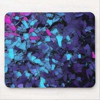 Blue mosaic pattern mousepad